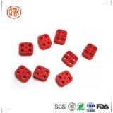 Conetor de cabo de borracha personalizado alongamento vermelho do silicone do bom