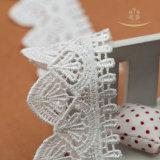 Commercio all'ingrosso decorativo 100% del testo fisso del merletto del poliestere 3.8cm dell'Africano largamente