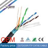 Câble extérieur imperméable à l'eau à grande vitesse de Sipu UTP Cat5e pour l'Internet