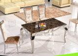 Таблица мебели металла искусственная мраморный обедая установила для сбывания