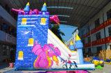 強力な騎士対ドラゴンの膨脹可能なスライドの乾燥したスライド家庭で