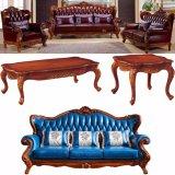 Italienisches ledernes Sofa für Wohnzimmer-Möbel (D992A)