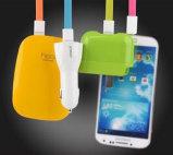Кабельная проводка поручая силы USB данных для iPhone Samsung