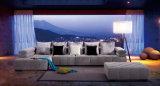 Sofá moderno de la tela del mobiliario del salón de madera moderno