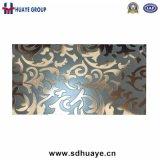 エッチングされたステンレス鋼の装飾的な版シート