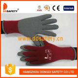 Ddsafety 2017 Cordón de espuma guantes de seguridad revestidos de látex