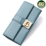 Sacchetto di frizione di vendita caldo della borsa della mano delle signore dei raccoglitori della moneta di colore della caramella delle donne di disegno semplice Al326
