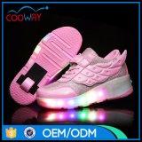 De Goedkope Tennisschoenen van de intrekbare LEIDENE van de Manier van de Schoenen van het Wiel Schoenen van de Rolschaats