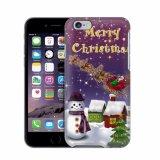 broche de presión más del iPhone 6 en caja del muñeco de nieve de la Feliz Navidad de la cubierta