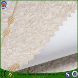 Polyester franc de jacquard enduit s'assemblant le tissu de rideau en ombrage de la configuration d'étoile et de pluie