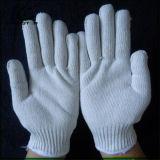 Связанные техникой безопасности на производстве белые перчатки работы руки хлопка для оптовой продажи
