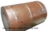 PPGI/PPGL/Wooden 색깔 강철 코일 또는 나무로 되는 패턴 PPGI