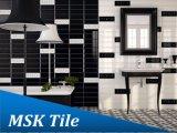 плитка стены черного лоска 100X300mm керамическая застекленная