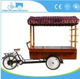 Chariot électrique de tricycle d'acier inoxydable de bonne qualité pour vendre la nourriture