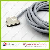 68pin dB 유형 케이블 연결관 75angle 스카시 male형 커넥터