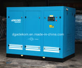 Compresor de aire variable rotatorio eléctrico inmóvil del mecanismo impulsor del tornillo (KG355-13INV)