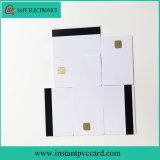 Cartão branco do PVC da microplaqueta do contato 4428 com a listra magnética de Hico