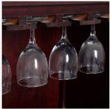 Штанга хранения держателя бутылки шкафа вина кухни домашняя деревянная с стеклянным шкафом новым