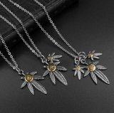 Retro Juwelen van de Manier van de Ster van de Tegenhanger van de Halsband van het Blad Unisex-