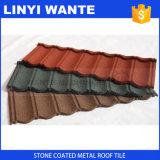 Tuiles de toit enduites par pierre colorée chaude d'obligation en métal de mode de matériau de toiture de vente de l'Afrique