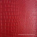 Cuir noir en croûte de faux cuir PVC