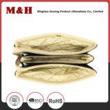 Bolsos portables del cuero del bolso de compras de las rayas horizontales tricolores