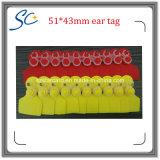 Modifiche di orecchio di plastica della capra delle pecore del commercio all'ingrosso 51*43mm per l'inseguimento animale