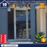 Indicador de vidro de alumínio interior moderno da porta de balanço do projeto francês da casa