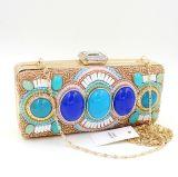 Abend-Beutel handgemachte der Handtaschen-Kupplungs-Fonds-Form-Luxuxdame-Designer Rhinestone Beaded