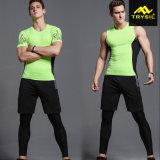 Pantalones cortos modificados para requisitos particulares el último Tracksuit Legging de la camisa de las medias de la ropa de deportes del hombre
