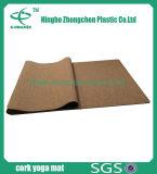 Stuoia di yoga stampata abitudine del sughero della stuoia di yoga della gomma e del sughero naturale antiscorrimento