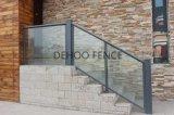 Barandilla de cristal de acero galvanizada modernizada de la escalera