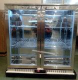 바 냉각기 광고 방송 뒤 바 냉장고의 밑에 2 문