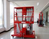 Plataforma de trabalho aéreo do mastro do dobro do elevador do homem