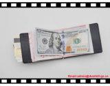 I soldi di alta qualità fermano il raccoglitore con una graffetta del Mens del cuoio del supporto di scheda