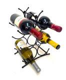 La visualización de moda única del vino del metal de 6 botellas deja de lado