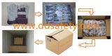 Kuh-aufgeteiltes Leder-Arbeits-Handschuh-Streifen-Baumwollbohrgerät-zurück Sicherheits-Handschuhe Dlc215
