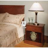 純木フレームが付いている簡単な現代デザインホテルの寝室の家具