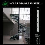 Barandilla modificada para requisitos particulares alta calidad y poste del acero inoxidable del espejo AISI304/316/del satén