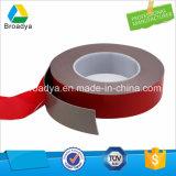 El alto doble de la adherencia echó a un lado trazador de líneas de acrílico superior de la espuma de la cinta con la película roja
