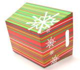 ハンドルが付いているクリスマスの主題のペーパー収納箱