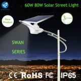 Bluesmart 60W 80W LED 공도 태양 가로등 (태양 백조 빛)