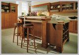 Ritzヨーロッパ様式の白いポプラの純木の食器棚の家具