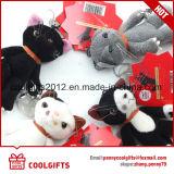 Mini giocattolo farcito Keychain animale, anello portachiavi della peluche del gatto di alta qualità