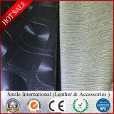 Кожа для софы мебели выбила Flocked напечатанную Crinkle помытую резину кожи картины искусственной кожи PVC зеркала