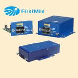 4つのギガビットによって管理される光ファイバ媒体のコンバーター