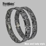 Bracelet en céramique en perles en hématite en couleur noire pour la fonction de santé (10071)