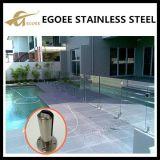De Spon van het Glas van Frameless, Vierkante Spon met Grondplaat, Spon de Van uitstekende kwaliteit van de Omheining van de Pool