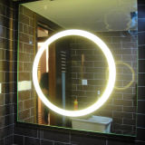 Hotel IP44 Lighted Wall Mounted Size Customized LED Bathroom Mirror