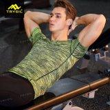 人の圧縮の体操のための堅いワイシャツのスポーツ・ウェア